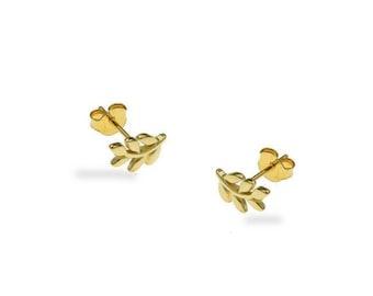 Little Branch Stud Earrings, Leaf Stud Earrings, Sterling Silver Earrings, Delicate Earrings, Birthday gift, Everyday Jewellery
