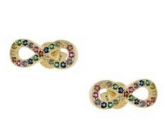 Rainbow Infinity Earrings
