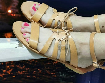 Greek Sandals, Chic Handmade Sandals, Genuine Leather Sandals, Ancient Greek Sandals