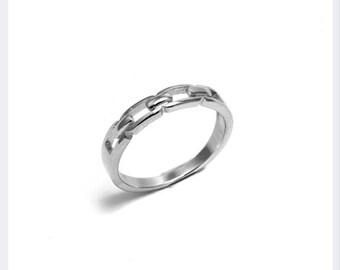 Chain Ring, Everyday Ring, Dainty Ring, Birthday Gift, Minimalist Jewellery, Chic