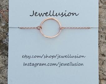 Rose Gold Hoop Necklace