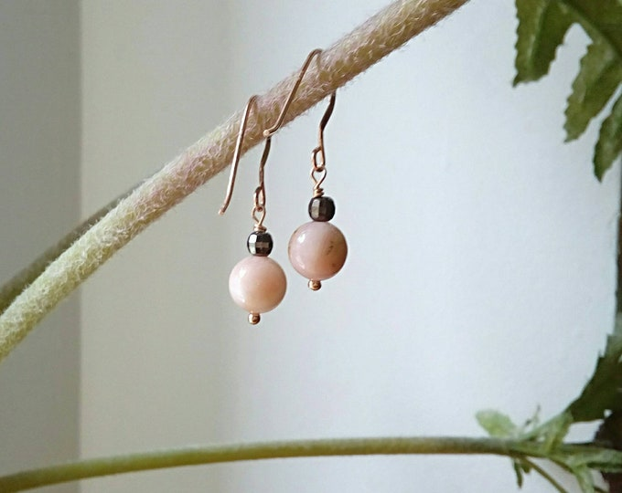 Opal Earrings, Dainty Opal Earrings, Rose Gold Filled, Delicate Drop Earrings, Best Gifts for Women, Anniversary Gift, Gifts for BFF