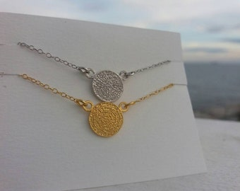 Greek Phaistos Disk Necklace