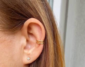 Ear Cuff, Ear Cuff no piercing, Chain Ear Cuff, Sterling Silver Ear Cuff, Single Ear Cuff, Gold plated
