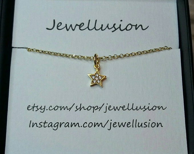 Tiny Gold Star Necklace, 14k Gold Filled Necklace, Star Pendant,  Dainty Gold Necklace, Birthday Gift, Graduation Gift, BirthdayGift