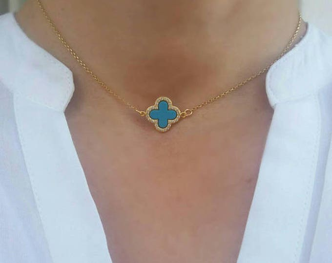GOLD FILL CLOVER NECKLACE