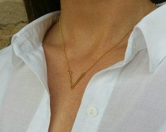 Gold Filled V Necklace