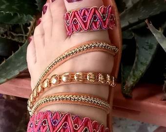 Fuchsia Sandals