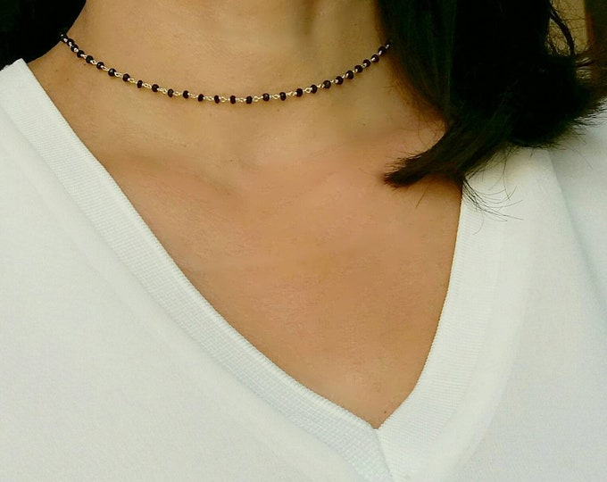 BLACK ONYX NECKLACE SILVER