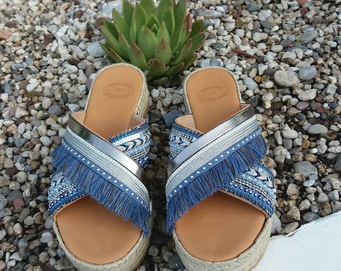 Bohemian Sandals, Boho Sandals, Greek Sandals ,100% Genuine Leather Sandals, Handmade Greek Leather  Sandals, Handmade Summer Sandals