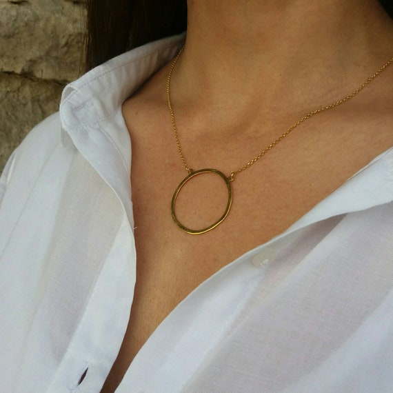 Gold necklace, circle of life necklace, 14k gold filled necklace, dainty necklace, birthday gift