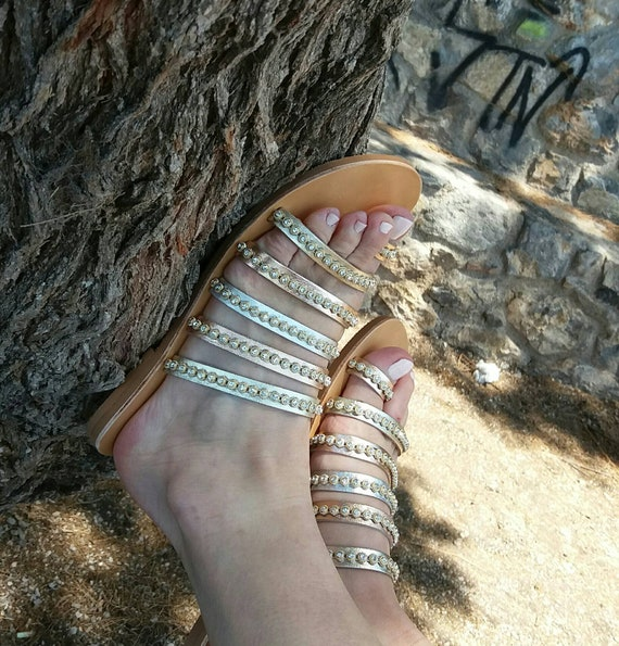 Wedding Sandals for Bride, Greek Sandals, Greek Handmade Leather Sandals,Bridesmaid Gifts, Ancient Greek Sandals, Genuine Greek Leather