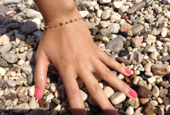 Tourmaline bracelet, rosary bracelet, beaded bracelet, everyday jewelry,bridesmaid jewelry, wedding bracelet, summer bracelet, gemstones