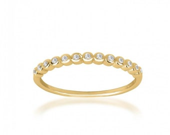 Solitaire Ring, 14k Gold Filled Ring, Cubic Zirconia Ring, Dainty Ring, Birthday Gift, Anniversary Ring, Solitär Ring, Hoop Ring