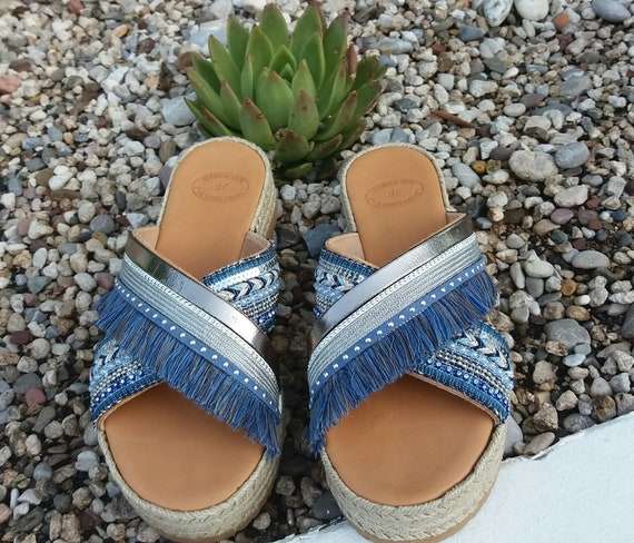Bohemian Sandals, Boho Sandals, Greek Sandals ,100% Genuine Leather Sandals, Handmade Greek Leather  Sandals, Handmade Summer Sandals