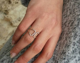 Rose Gold Fill Ring, Cubic Zirconia Ring, Everyday Ring, Dainty Ring, Birthday Gift, Anniversary Gift, Minimalist Jewellery, Chic Ring