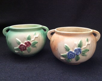 Set of 2 Weller Bean Pot Planters W-146