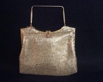 f72db77b7aa5 Gold Mesh Evening Bag by Debbie  John Wind Imports E-317