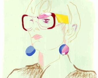 Balenciaga AW18 - Original Fashion illustration/Collage