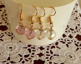 Simple Swarovski earrings