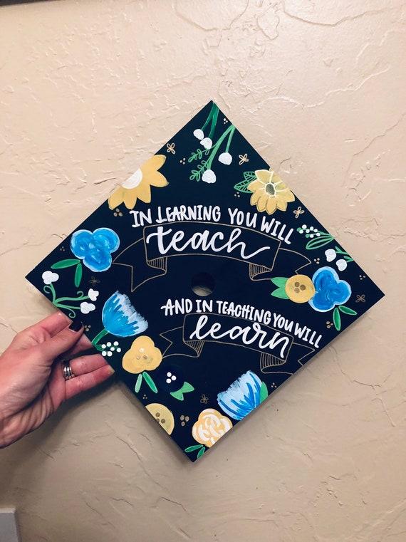 custom graduation cap grad cap design personalized etsy