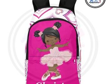 0b98d4cda3 Backpacks for girls. Diverse girl ballerina backpack! Back to school items.  Pretty girls rock! Ballerina. School Accessories. Girls.