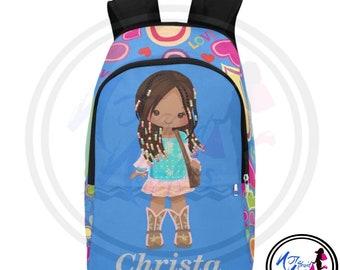 Bohemian African American Girls Backpack. Pretty Girls Rock. Back to  school. Backpacks. Girls back to school styling. School supplies. Girls ebe06c57daeee