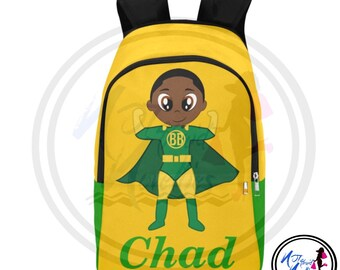 e10634d61d Back to school. African American boy superhero backpack. School supplies.  Backpacks. Books. Boys. Boy school supplies. Superhero. Little boy