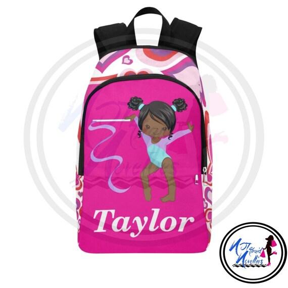 Custom backpacks. African American Girl Gymnastics Dancer   Etsy 75faf9bfbc