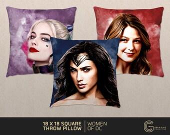Women of DC: Comic-inspired Throw Pillow