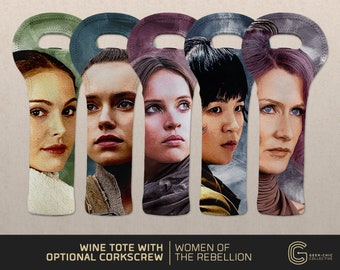 Women of the Rebellion: Star Wars-inspired Wine Tote