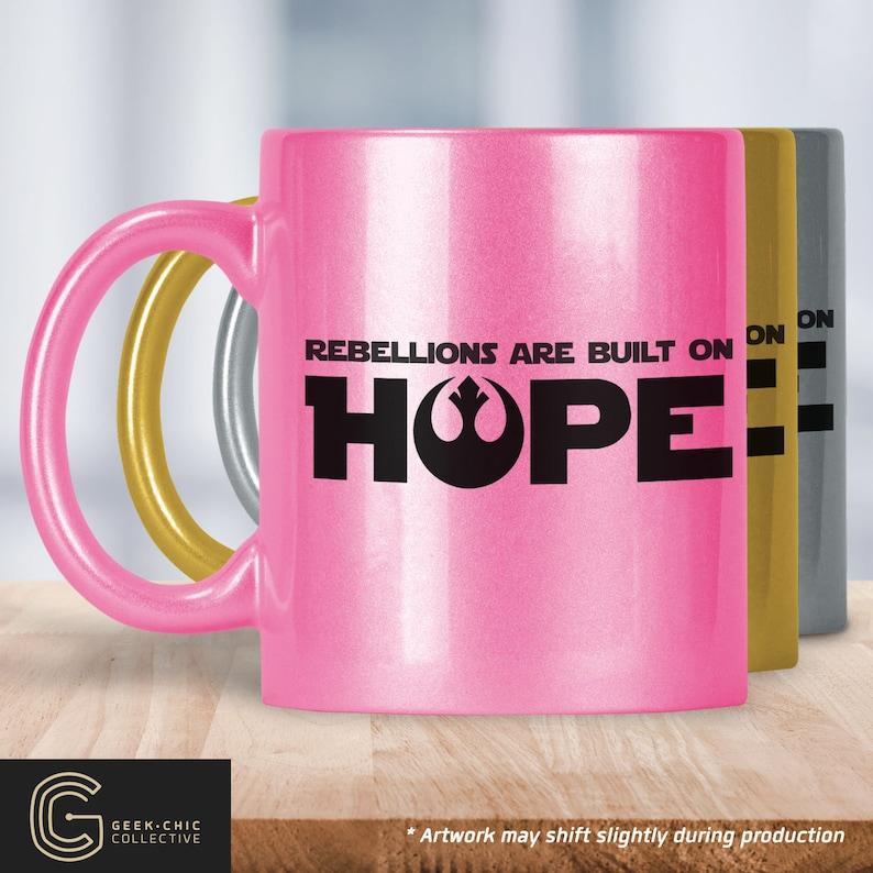 Star Wars-inspired Hope Colored Metallic Mug image 0