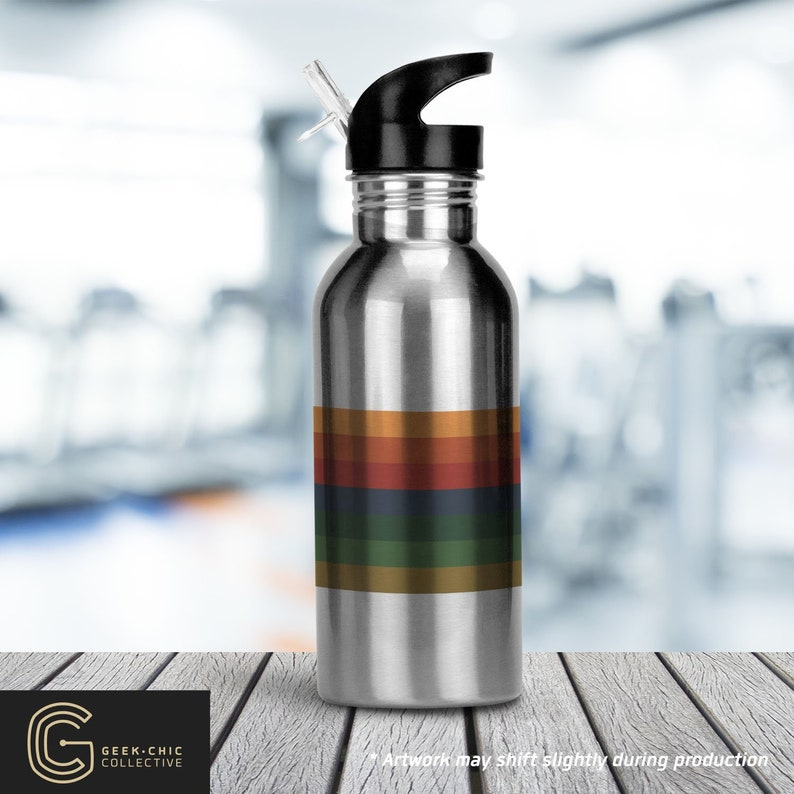 13th Doctor-inspired Stainless Steel Water Bottle with Straw image 0