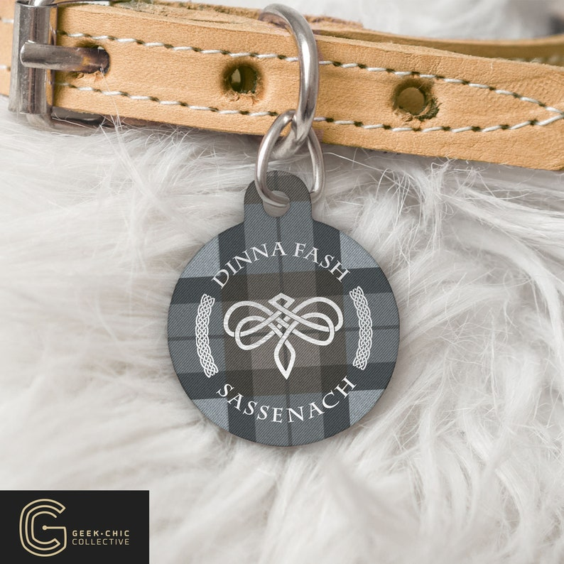 Dinna Fash Sassenach Outlander-inspired Celtic Dragonfly No personalization