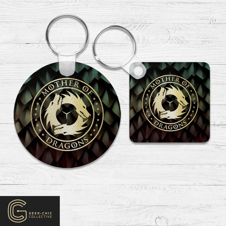 Mother of Dragons: GOT-inspired Key Chain image 0