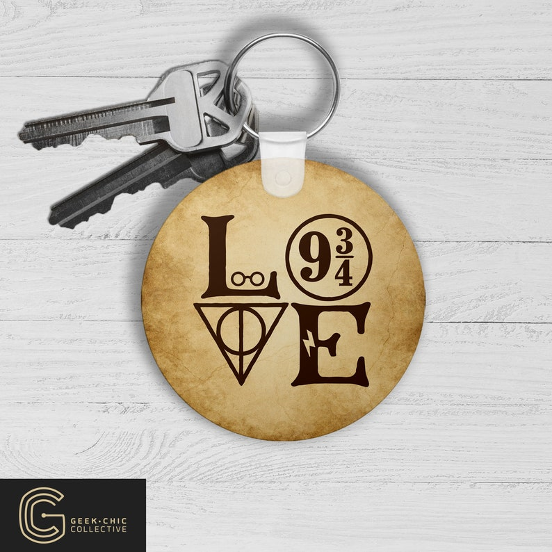 LOVE HP-inspired Key Chain image 0