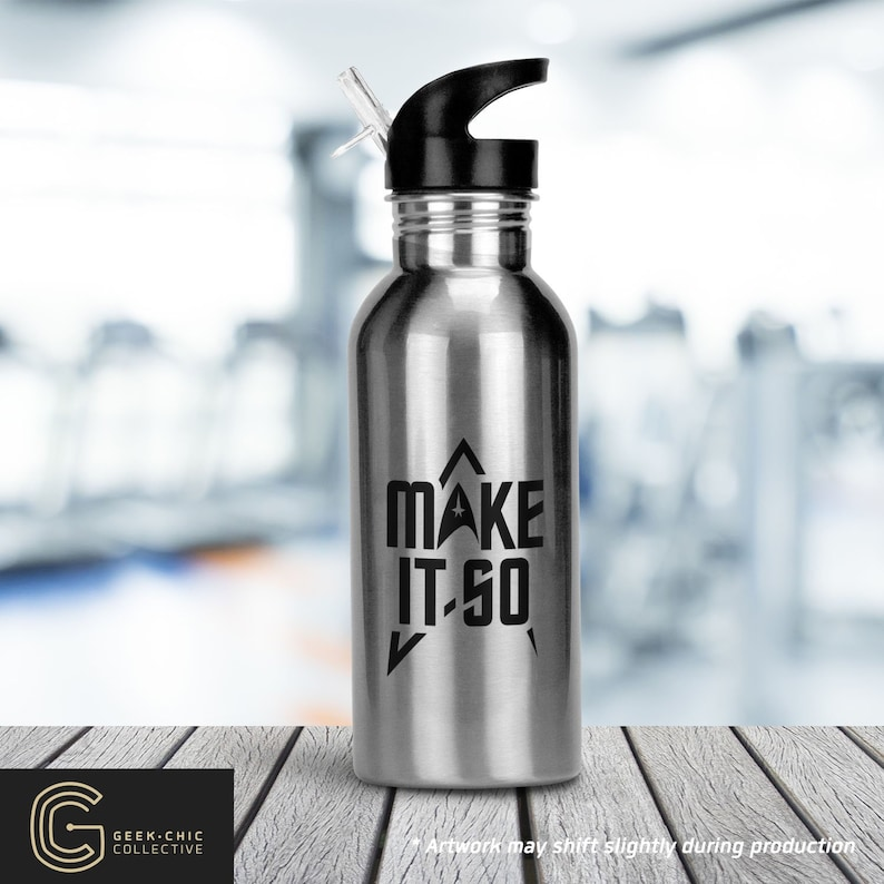 Trek-inspired Make It So Stainless Steel Water Bottle with image 0