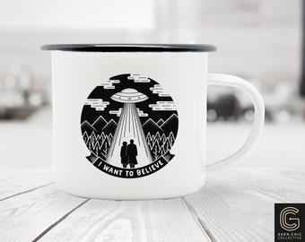 I Want to Believe X-Files inspired Camp Mug