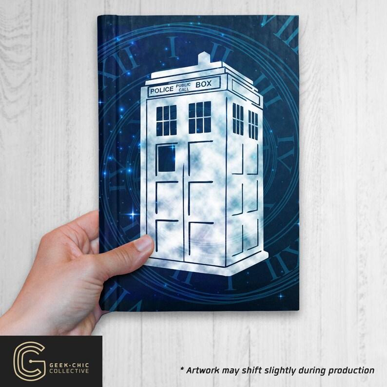 Tardis Doctor Who-inspired Hardcover Journal image 0