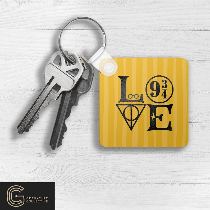 LOVE HP-inspired Key Chain: House of Loyalty image 0