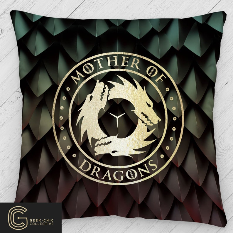 Mother Of Dragons: Got-Inspired Throw Pillow image 0