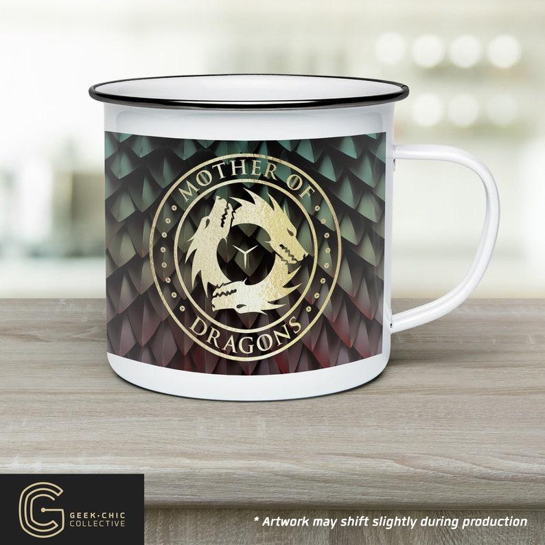 Mother of Dragons: GOT-inspired Camp Mug image 0