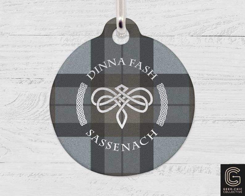 Dinna Fash Sassenach Outlander-inspired Celtic Dragonfly image 0