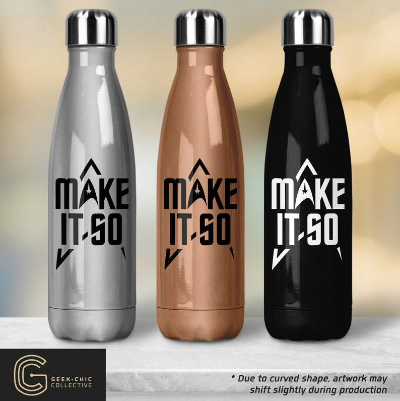 Star Trek-inspired Peristyle Water Bottle  Make it So image 0