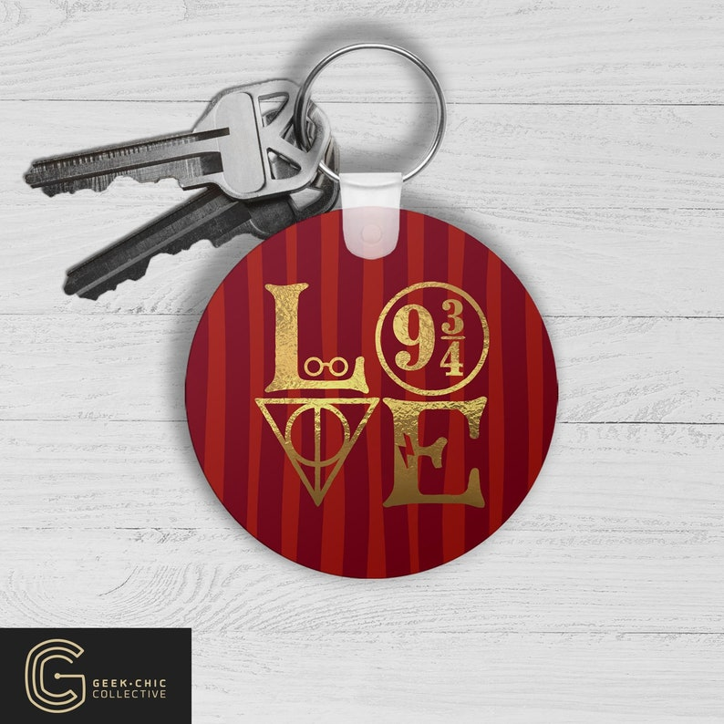 LOVE HP-inspired Key Chain: House of Bravery image 0