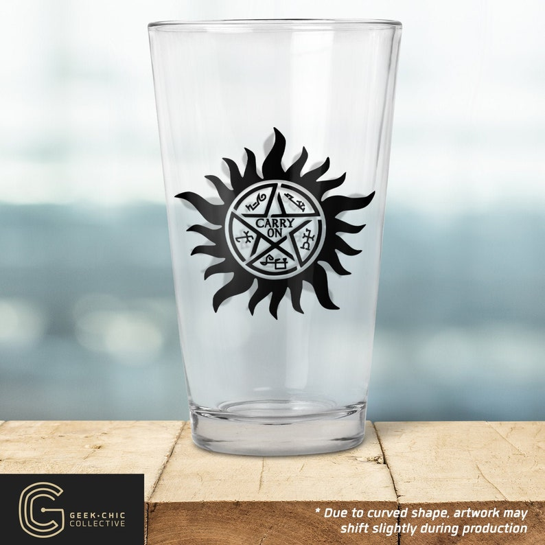 Supernatural-inspired Pint Glass image 0
