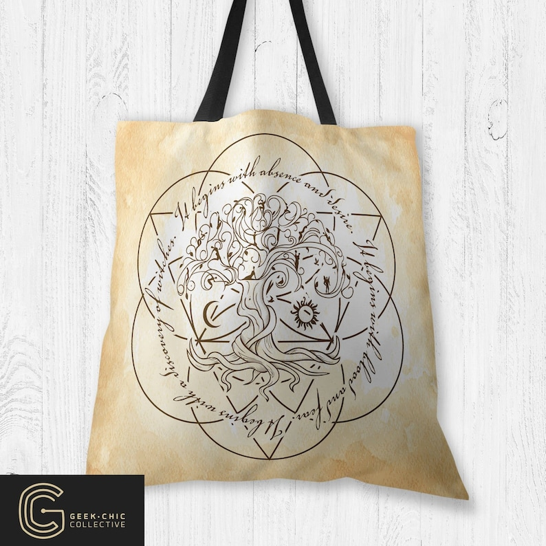 ADOW Book-inspired Tree of Life Tote Bag image 0