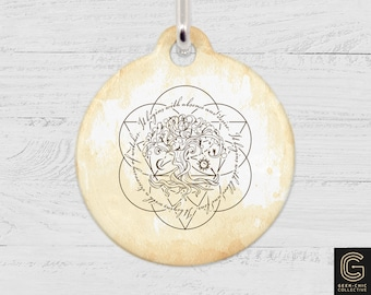 ADOW Book-inspired Tree of Life Pet Tag