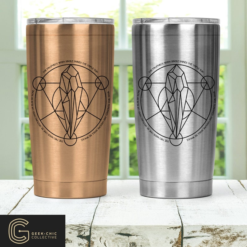 Dark Crystal prophecy-inspired Stainless Steel Thermos with image 0