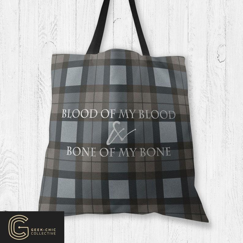 Outlander book-inspired Tartan Fraser Wedding Vow Tote Bag image 0